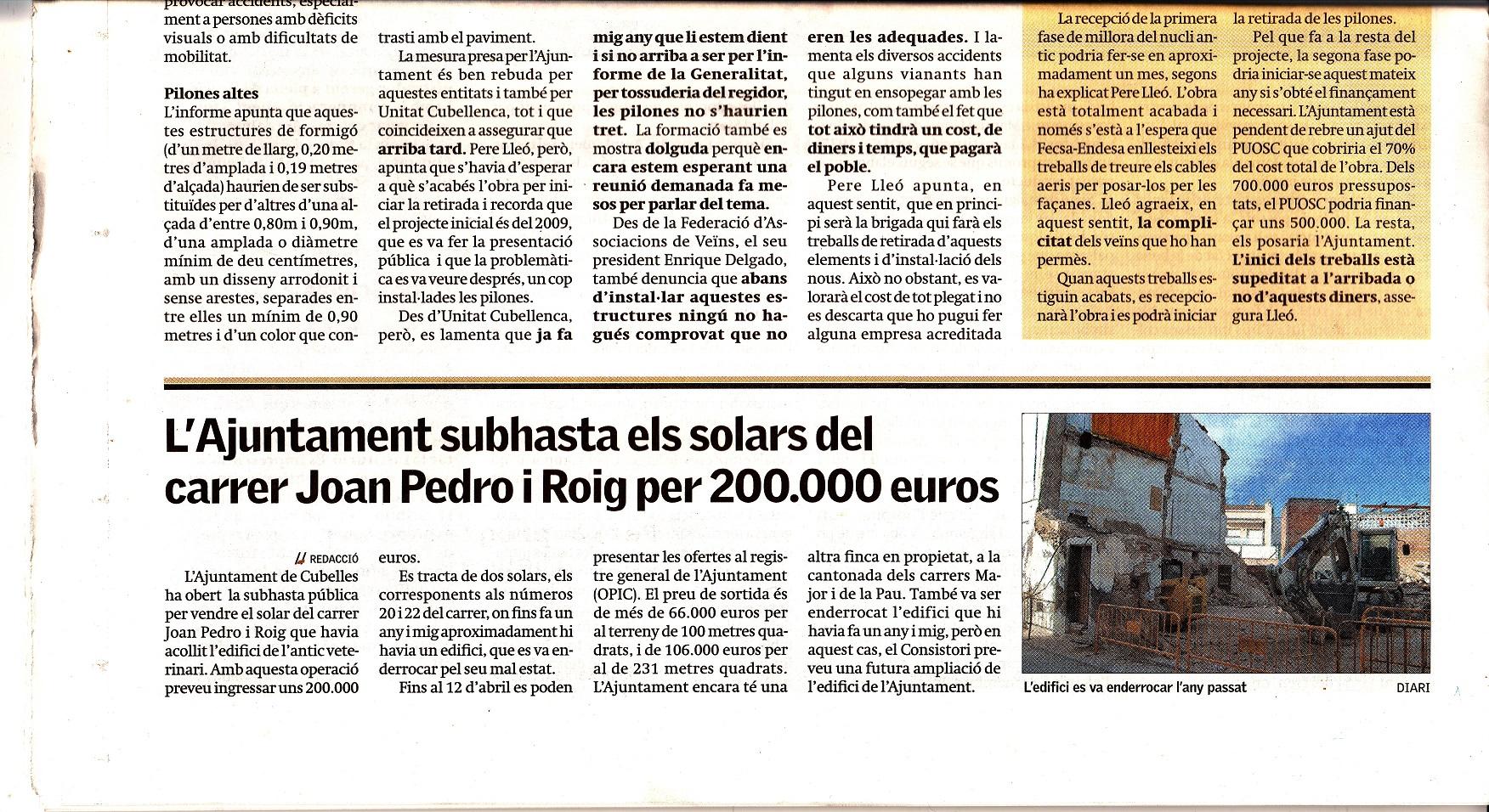 DIARI DE VILANOVA, FORA TOTES LES PILONES 05-04-2013-R-2-R
