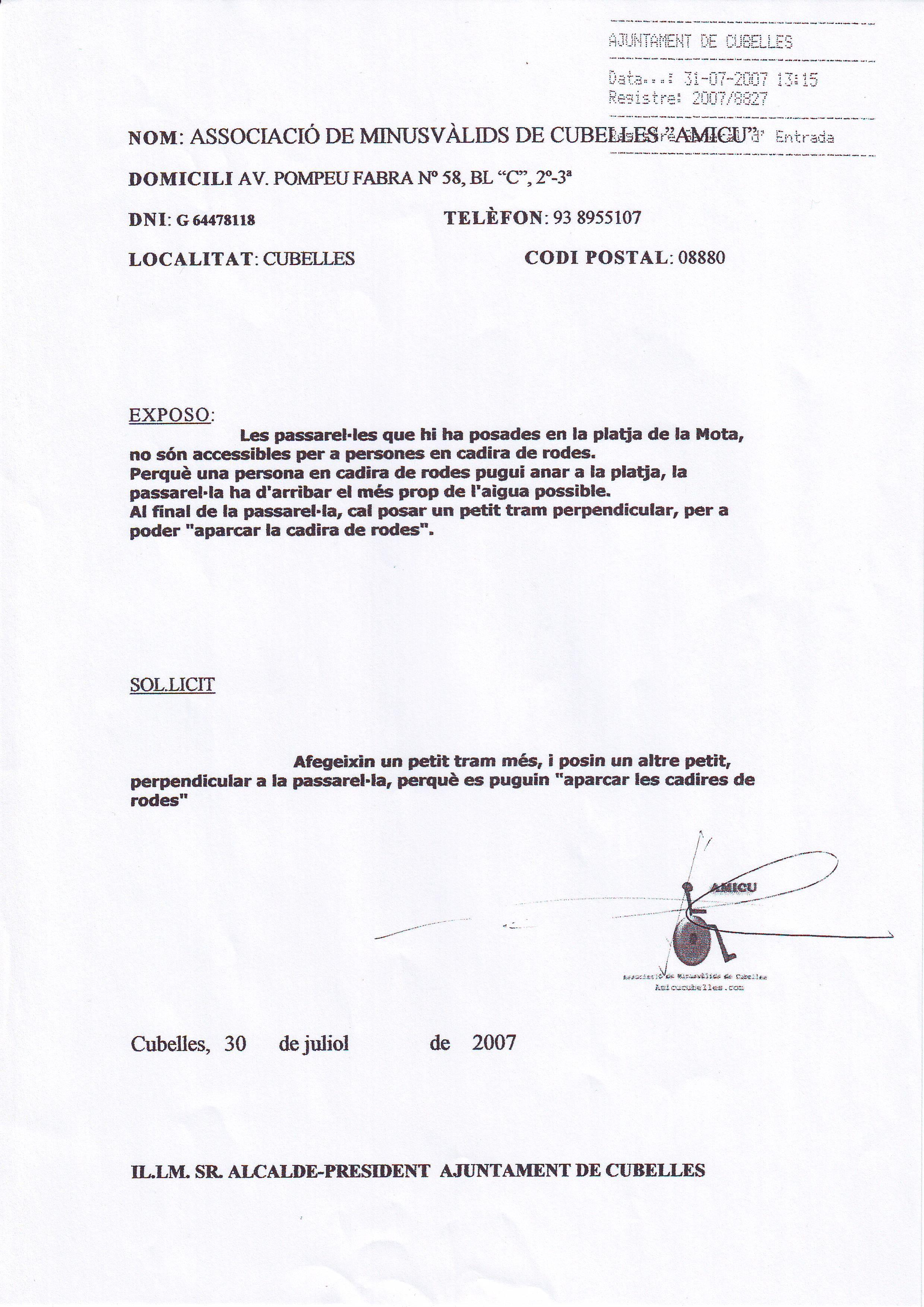 INSTANCIA- PASARELAS PLAYA DE LA MOTA-31-07-2007