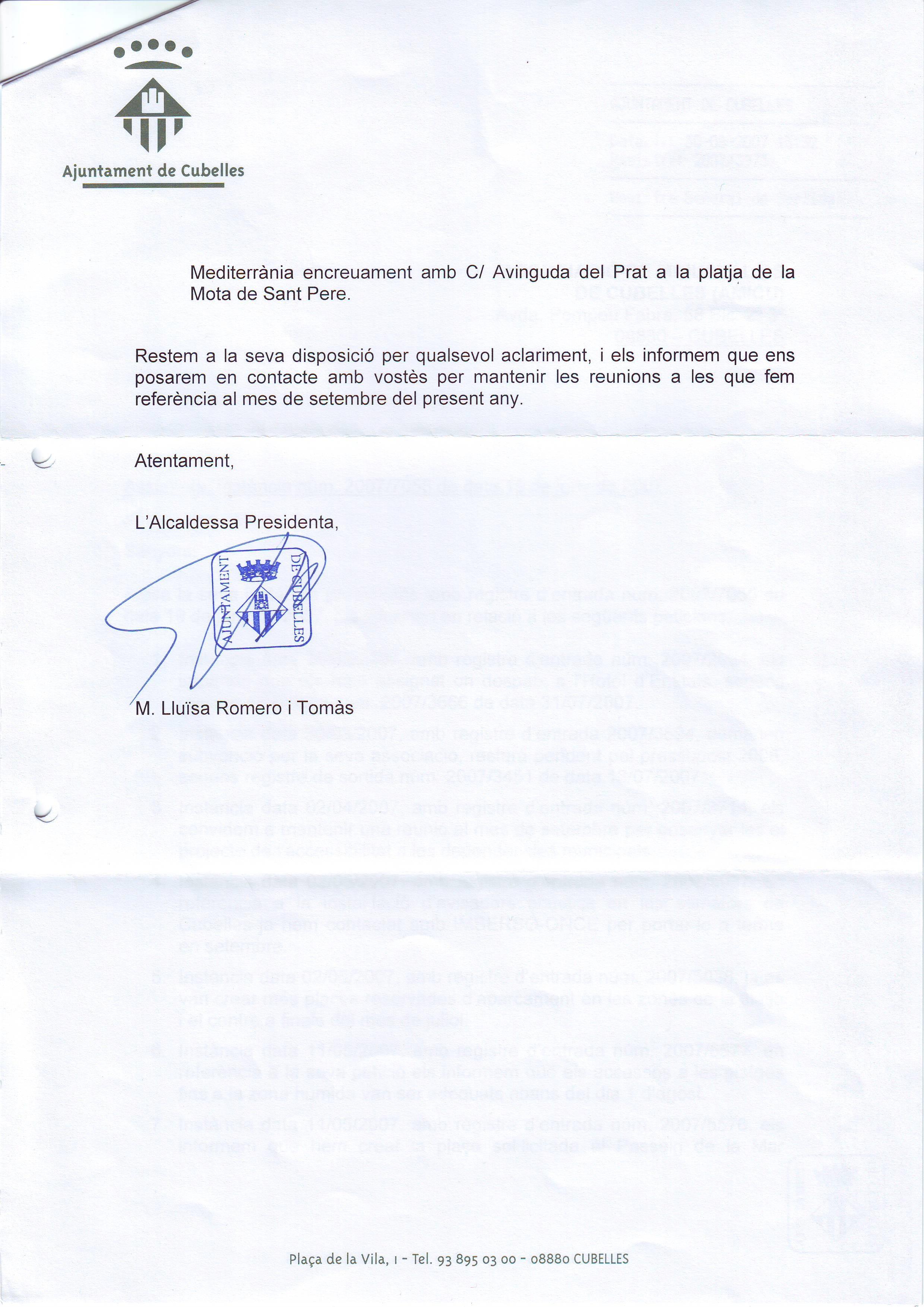 RESPUESTAS A INSTANCIA - 2 - RESPUESTA A VARIAS INSTANCIAS - 30-08-2008
