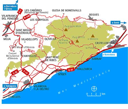 ParcGarraf mapa