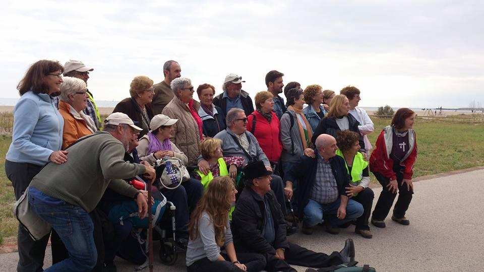Foto de todo el grupo, Cercle de Voluntaris del Garraf y AMICU