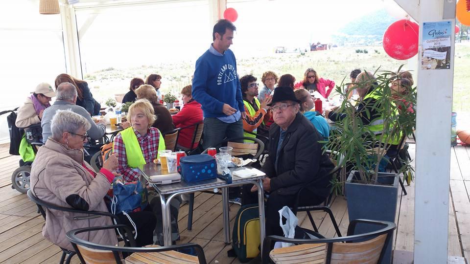 Comida en el Xiringuito de Castelldefels.