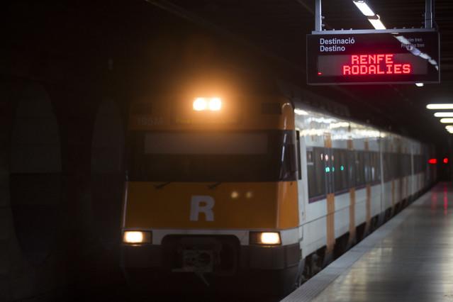 Barcelona  21.05.2015 Una averia informatica causa retrasos en Rodalies. En la imagen Clot Arago Fotografia Albert Bertran